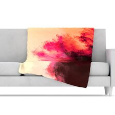 Painted Clouds II Microfiber Fleece Throw Blanket