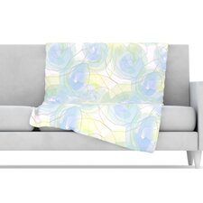 Paper Flower Microfiber Fleece Throw Blanket