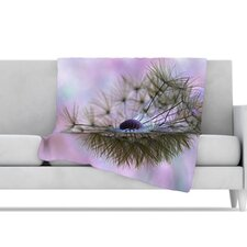<strong>KESS InHouse</strong> Dandelion Clock Microfiber Fleece Throw Blanket
