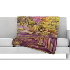 Down The Alleyway Microfiber Fleece Throw Blanket