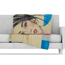 Face Microfiber Fleece Throw Blanket