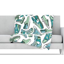 Sneaker Lover III Microfiber Fleece Throw Blanket