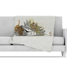 <strong>KESS InHouse</strong> Leo Microfiber Fleece Throw Blanket