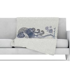 Aquarius Microfiber Fleece Throw Blanket