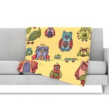Owls Microfiber Fleece Throw Blanket
