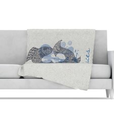 Pisces Microfiber Fleece Throw Blanket