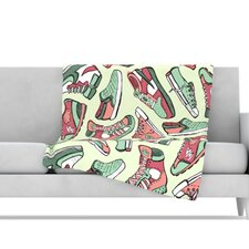 Sneaker Lover II Microfiber Fleece Throw Blanket