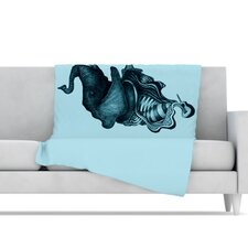 Elephant Guitar II Microfiber Fleece Throw Blanket