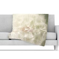 <strong>KESS InHouse</strong> Dandelion Microfiber Fleece Throw Blanket