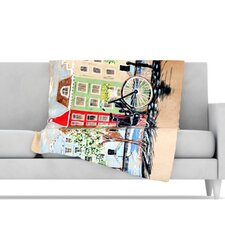 Bicycle Microfiber Fleece Throw Blanket