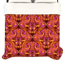 """Intertwined Magenta"" Woven Comforter Duvet Cover"