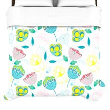 """""""Indie Floral"""" Woven Comforter Duvet Cover"""
