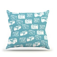 Camera Pattern Throw Pillow