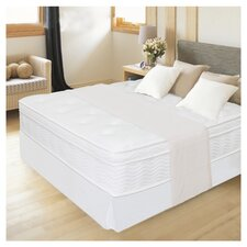 "12"" Euro Box Top Spring Mattress and Steel Foundation Set"