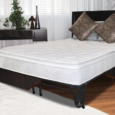 "10"" Pillow Top Spring Mattress and Steel Foundation Set"