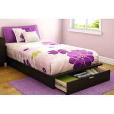 Twin Platform Bed with Storage II