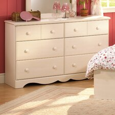 Summer Breeze Chocolate Double 6-Drawer Dresser