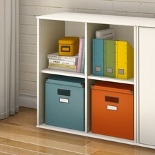 Stor It Four Cubby Storage Unit in Pure White