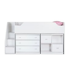 Mobby Twin Loft Bed with Chest and Storage Unit