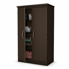 <strong>South Shore</strong> Morgan Collection Storage Cabinet in Chocolate