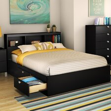 Spark Mate's Platform Bed with Bookcase Headboard