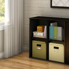 Stor It Four Cubby Storage Unit in Chocolate