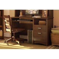 <strong>South Shore</strong> Gascony Desk in Sumptuous Cherry