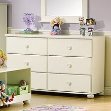 Sand Castle Double 6-Drawer Dresser