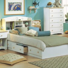 <strong>South Shore</strong> Newbury Twin Mates Bookcase Bed