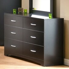 <strong>South Shore</strong> Back Bay 6 Drawer Double Dresser