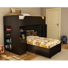 <strong>South Shore</strong> Logik Twin over Twin L-Shaped Bunk Bed with Desk