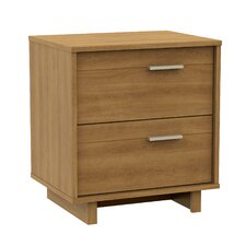 Fynn 2 Drawer Nightstand in Grey Oak