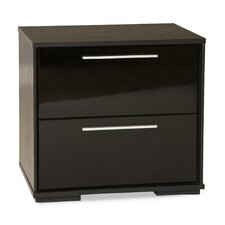 <strong>South Shore</strong> Mikka 2 Drawer Nightstand