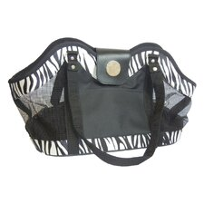 Zebra Zippered Tote Pet Carrier