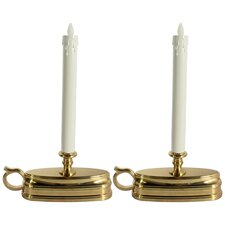 Window Unscented Taper Candles (Set of 2)
