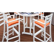 <strong>Trex Outdoor</strong> Outdoor Monterey Bay Barstool with Cushion (Set of 2)