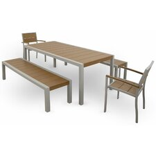 <strong>Trex Outdoor</strong> Trex Outdoor Surf City 5 Piece Bench Dining Set
