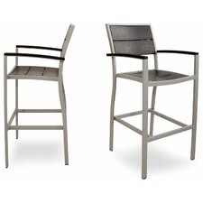 <strong>Trex Outdoor</strong> Outdoor Surf City Barstool (Set of 2)
