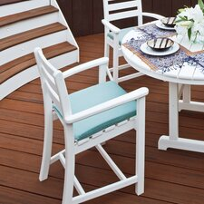 <strong>Trex Outdoor</strong> Outdoor Monterey Bay Barstool with Cushion