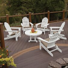 Trex Outdoor Cape Cod 6 Piece Adirondack Conversation Set