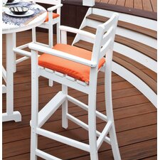 Trex Outdoor Monterey Bay Bar Height Chair with Cushion