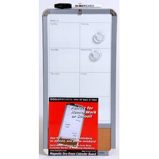 "<strong>Dooley Boards Inc</strong> 8.5"" x 17"" Magnetic Dry Erase Calendar Board"