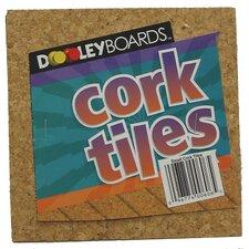 """Cork Tile 6"""" x 6"""" Bulletin Board"""