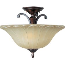 <strong>Maxim Lighting</strong> Allentown 3 Light Semi Flush Mount