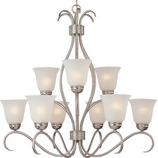 Basix 9 Light Chandelier - Energy Star