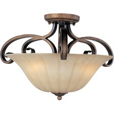 Chapelle 3 - Light Semi - Flush Mount