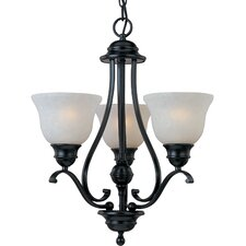 Linda 3 Light Mini Chandelier - Energy Star