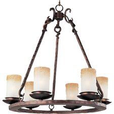Whomage 6 - Light Single - Tier Chandelier