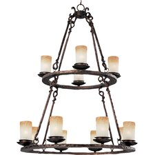 Whomage 12 - Light Multi - Tier Chandelier