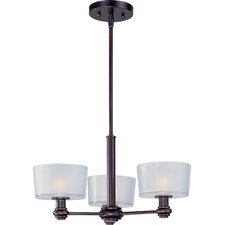 Discus 3 Light Mini Chandelier